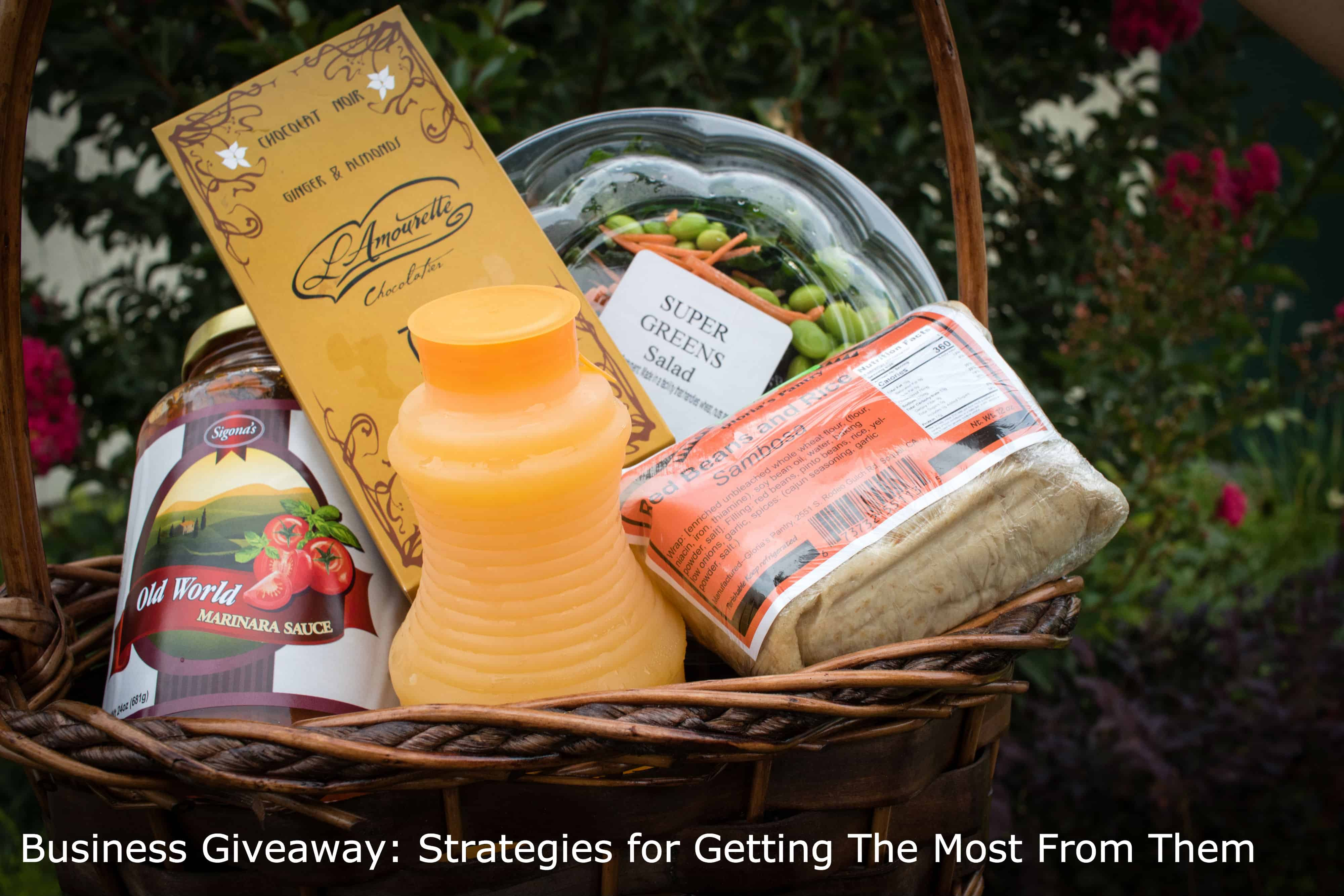Business Giveaway: Strategies for Getting the Most From Them